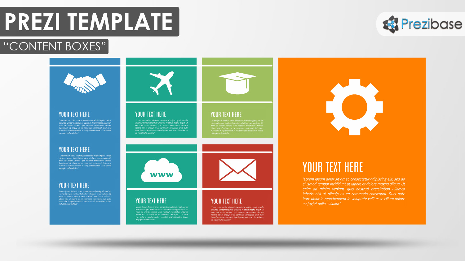colorful squares simple business tiles professional prezi template