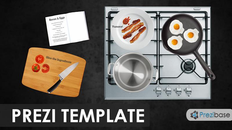 cooking chef kitchen prezi template