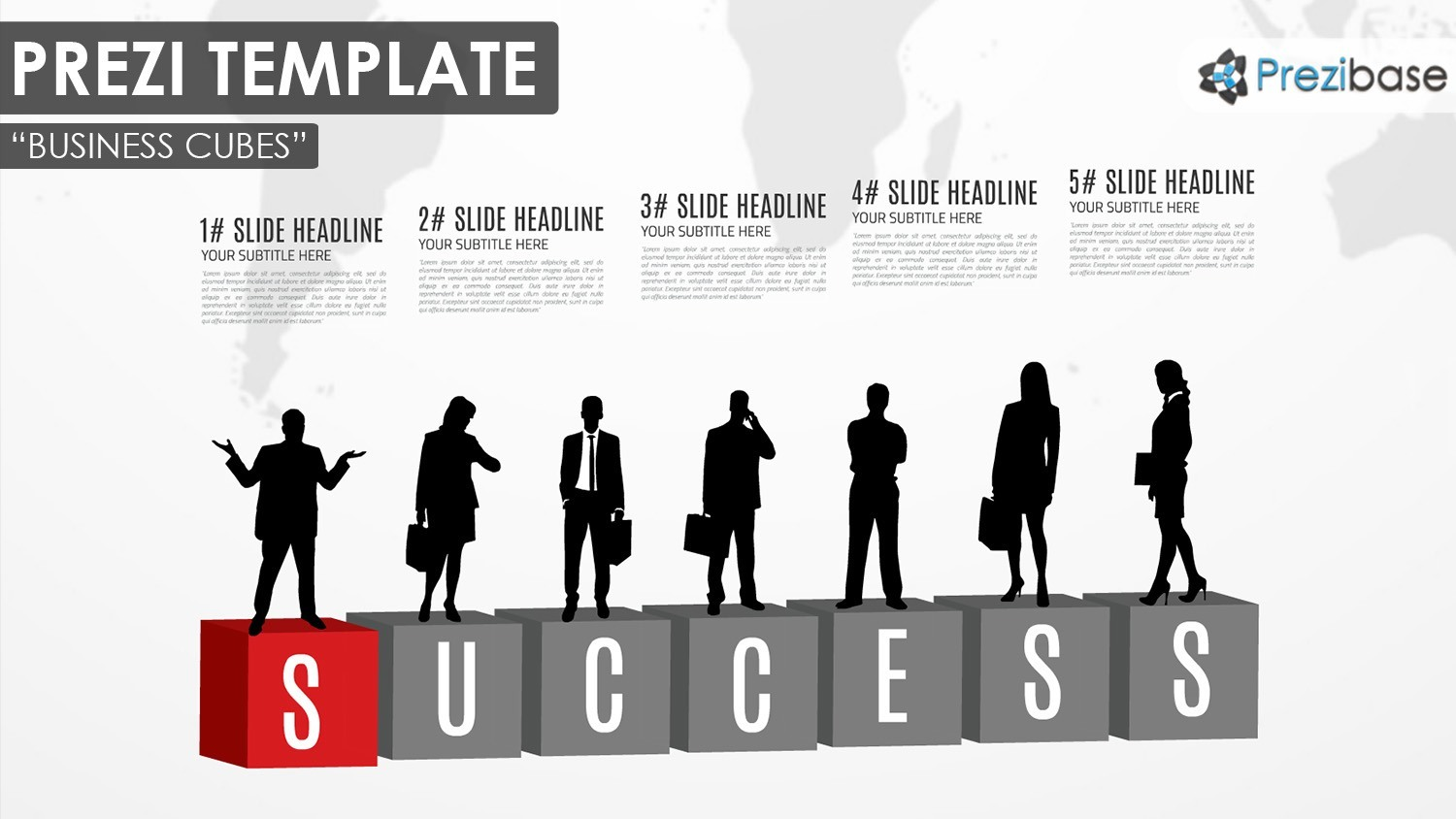 business cubes company business people silhouettes prezi template