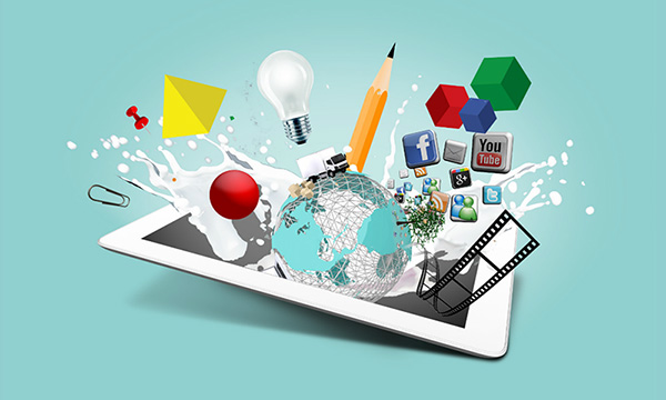 Creative ipad 3D graphic Design agency Prezi presentation template
