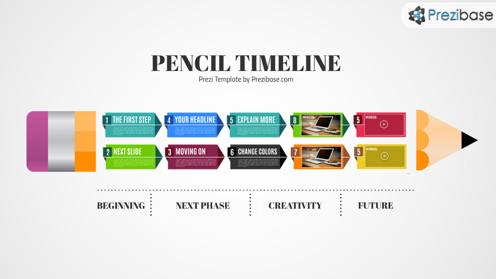 Pencil timeline prezi template prezibase pencil timeline school deadline or thesis prezi template for presentations toneelgroepblik Gallery