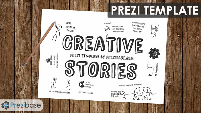 creative learning stories drawing prezi template