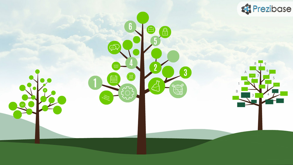 Tree Diagram Prezi Template | Prezibase