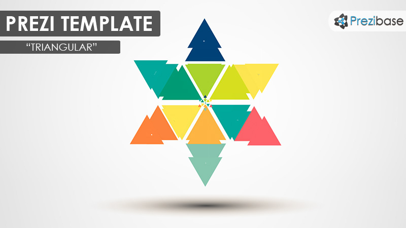 colorful triangles prezi template