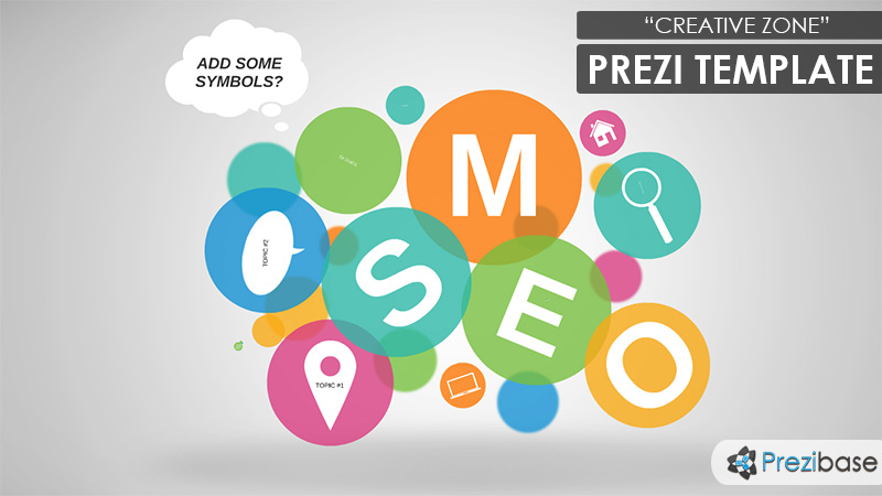 creative zone prezi template | prezibase, Powerpoint templates