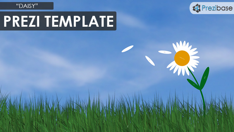 daisy flower nature prezi template