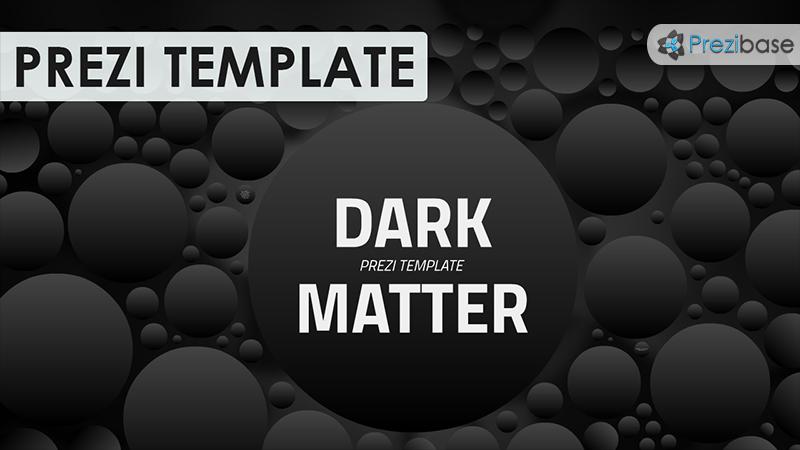 dark matter space science cosmos prezi template