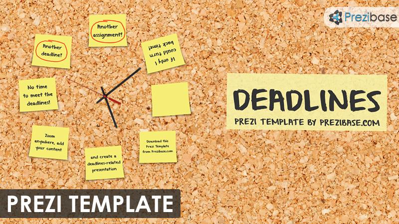 deadlines cork background post it notes prezi template for marketing school education project management