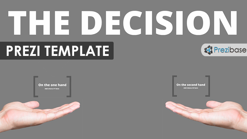 choose make a pick prezi template in one hand