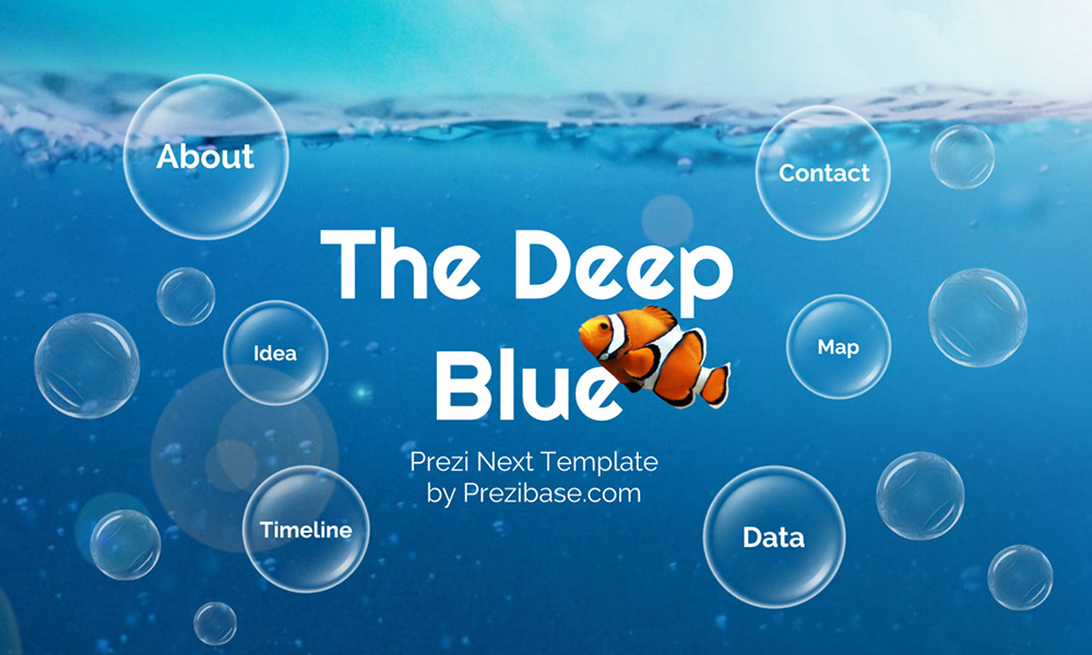 Underwater sea Prezi Next presentation template