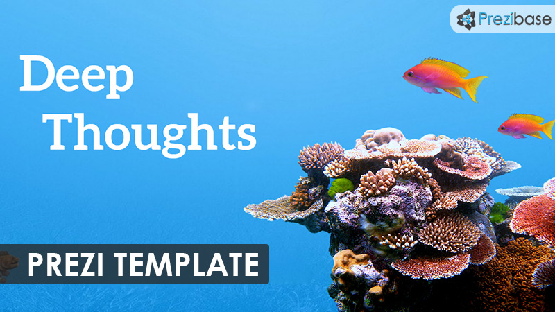 underwater ocean deep thoughts prezi template sea water