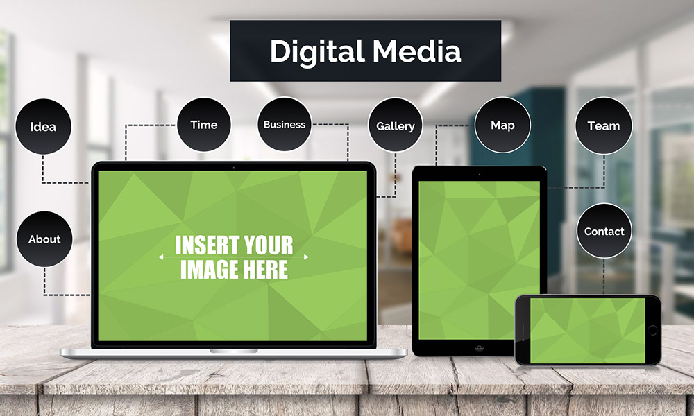Technology IOS device screens prezi next presentation template