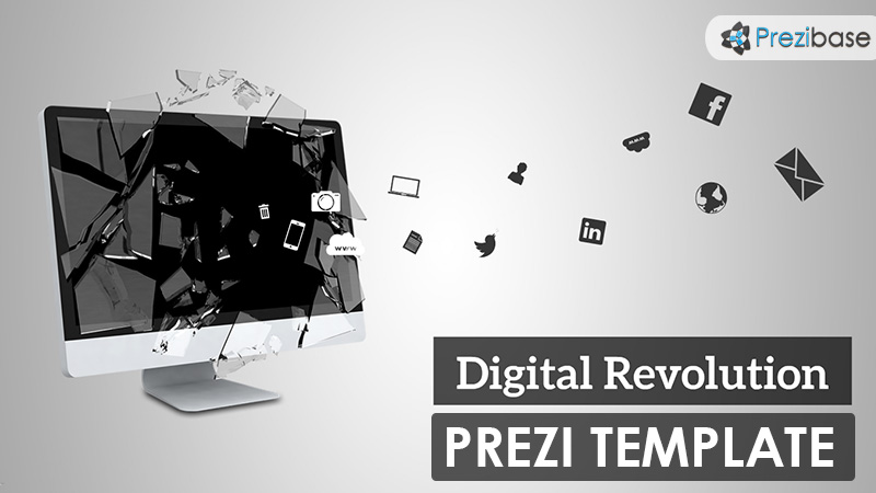 Digital technology revolution creative prezi template for presentations