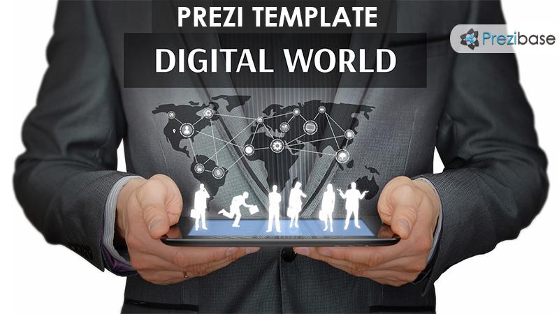 digital world business prezi template ipad