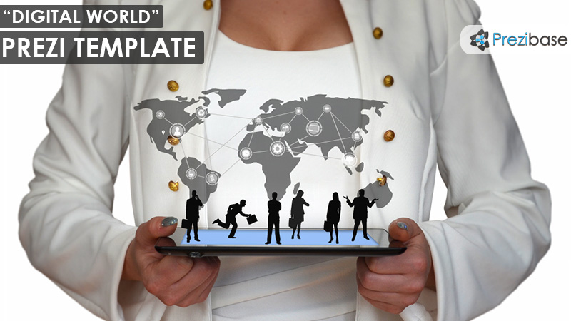 digital world female prezi template business ipad