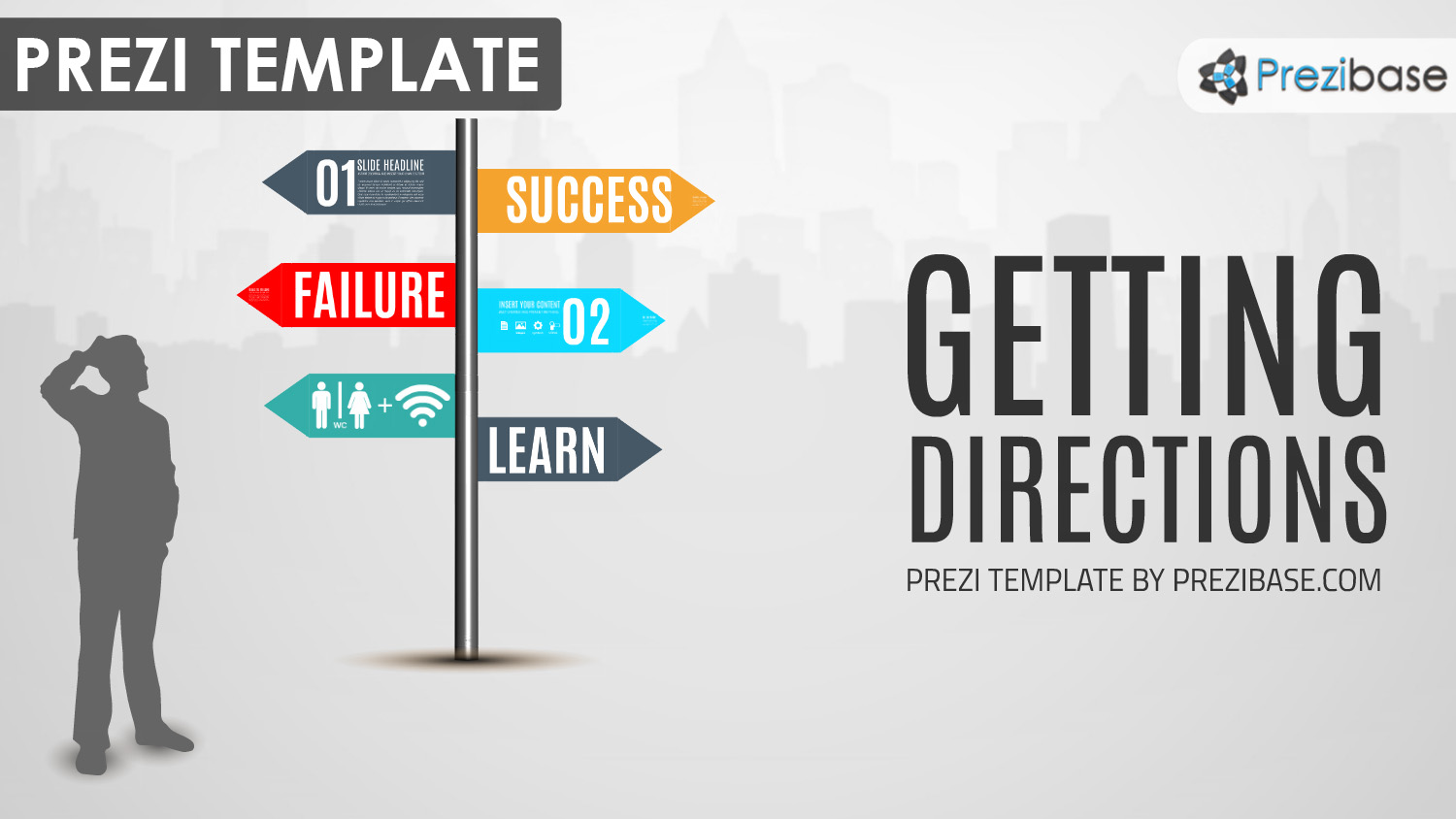 Business prezi templates prezibase directions businessman sign company vision wajeb Gallery