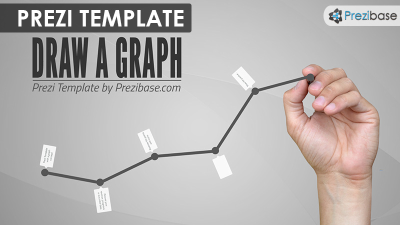 draw a graph business line chart prezi template