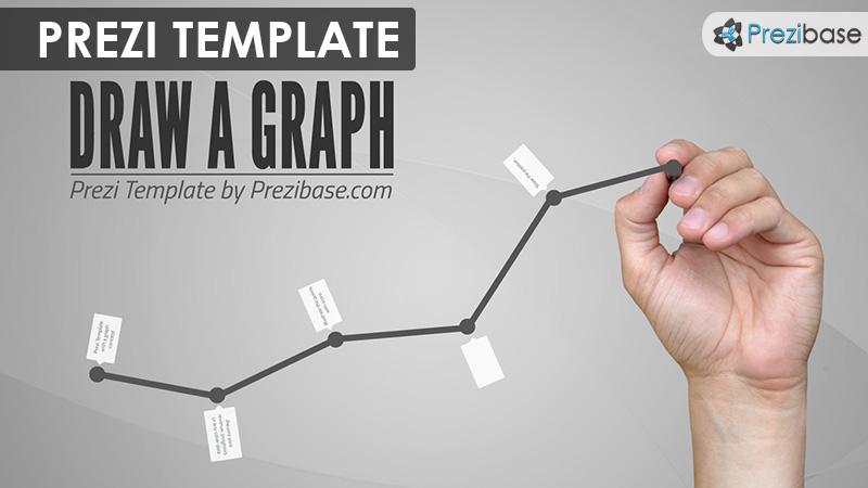 draw a graph business line chart prezi template