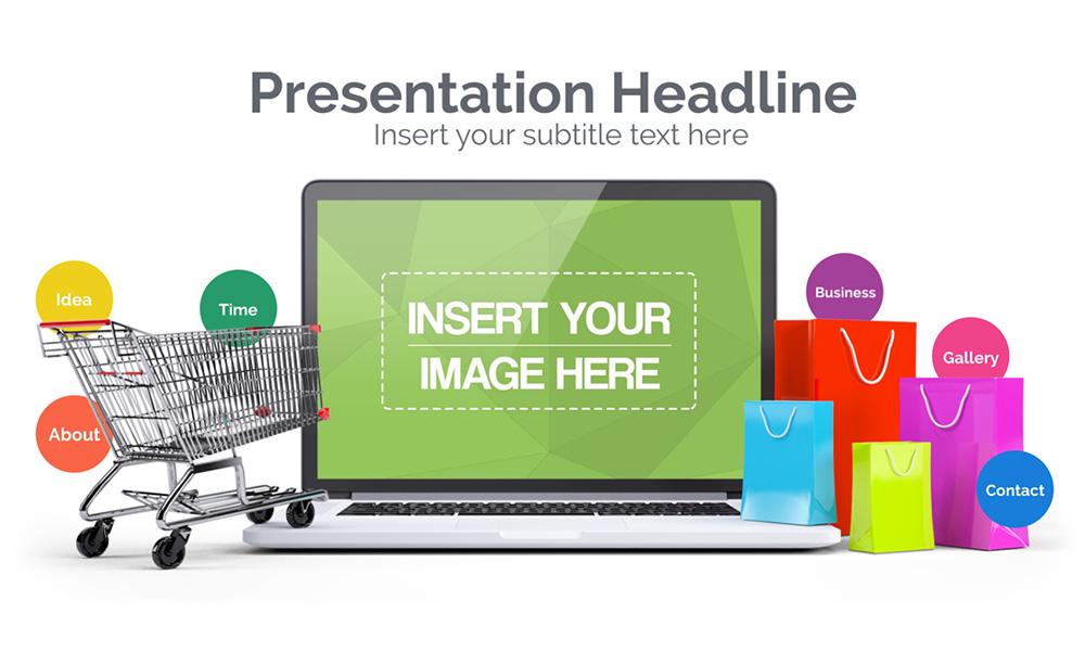 Ecommerce presentation template 3d for Prezi