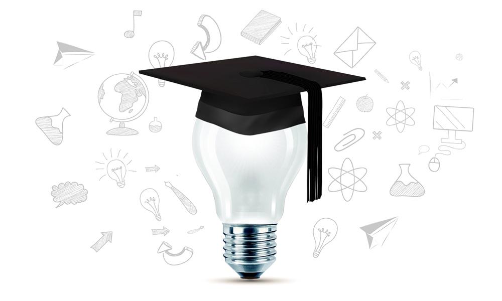 Education ideas 3D learning related Prezi presentation template