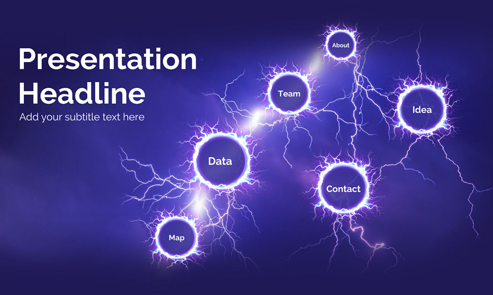 Electricity and lightning storm prezi presentation template