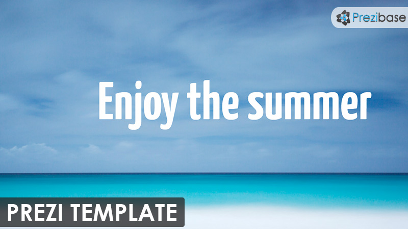 enjoy the summer beach vacation time share prezi template