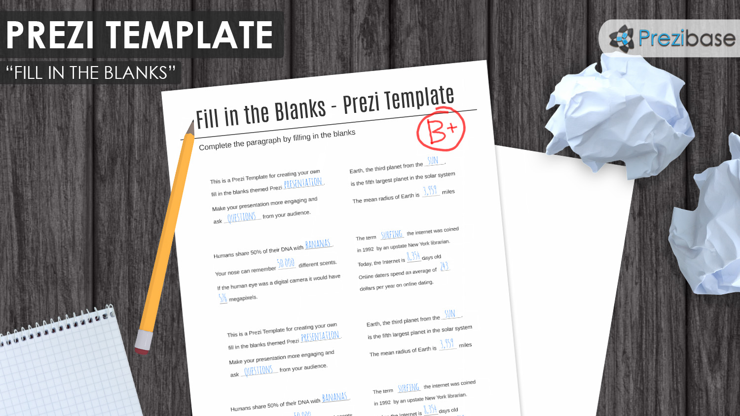 Education and School Prezi Templates – School Writing Paper Template