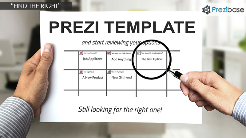 finding people team prezi template research