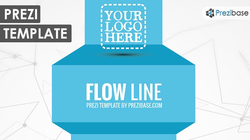 flow line 3d effect prezi template move on path