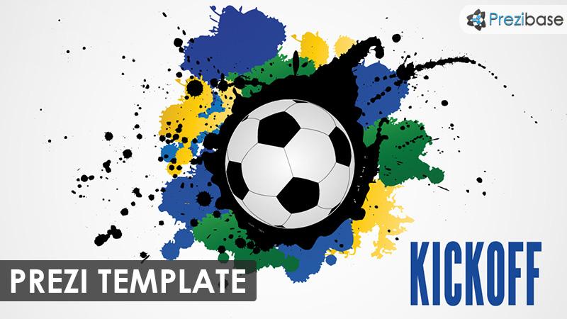 football soccer kickoff prezi template