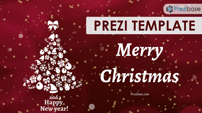 Christmas ECard Prezi Template Prezibase - Christmas greeting card template