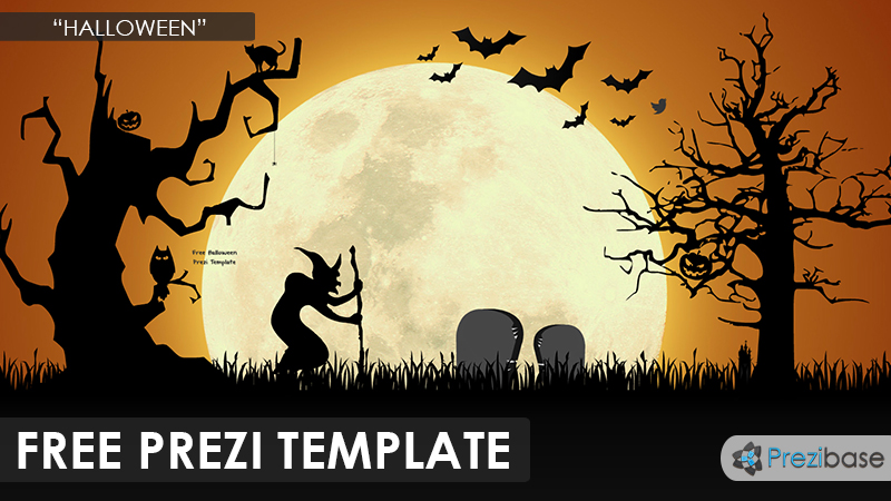 free halloween prezi template dark nigh moon