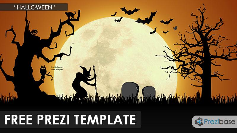 free halloween prezi template dark nigh moon