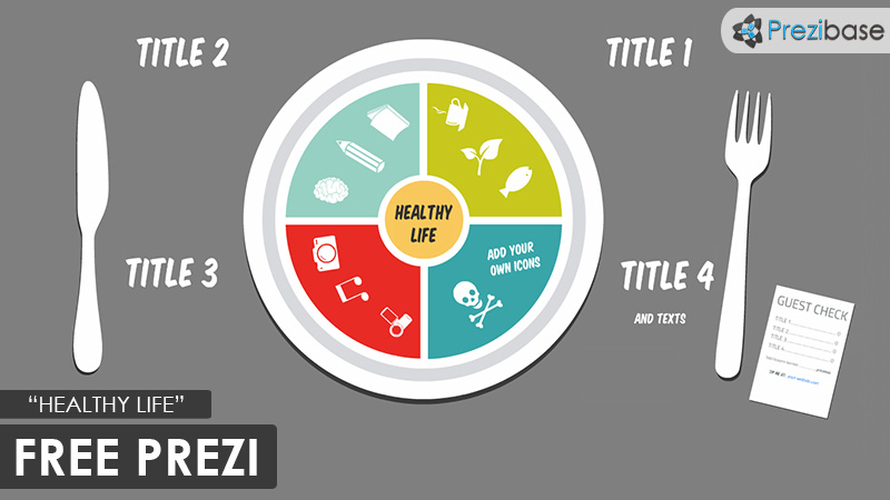 free healthy life food eating prezi template