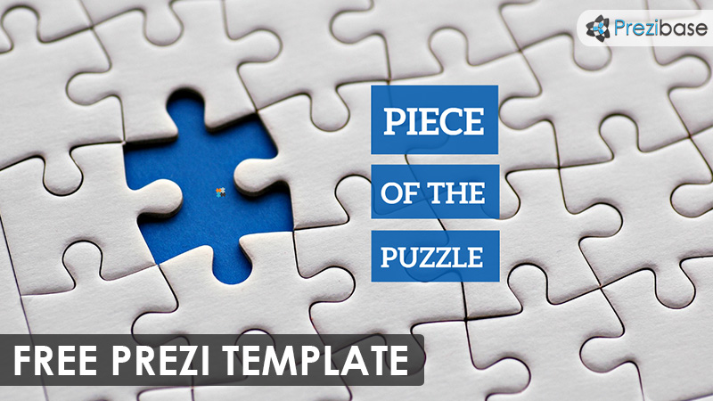 piece of the puzzle prezi template | prezibase, Modern powerpoint