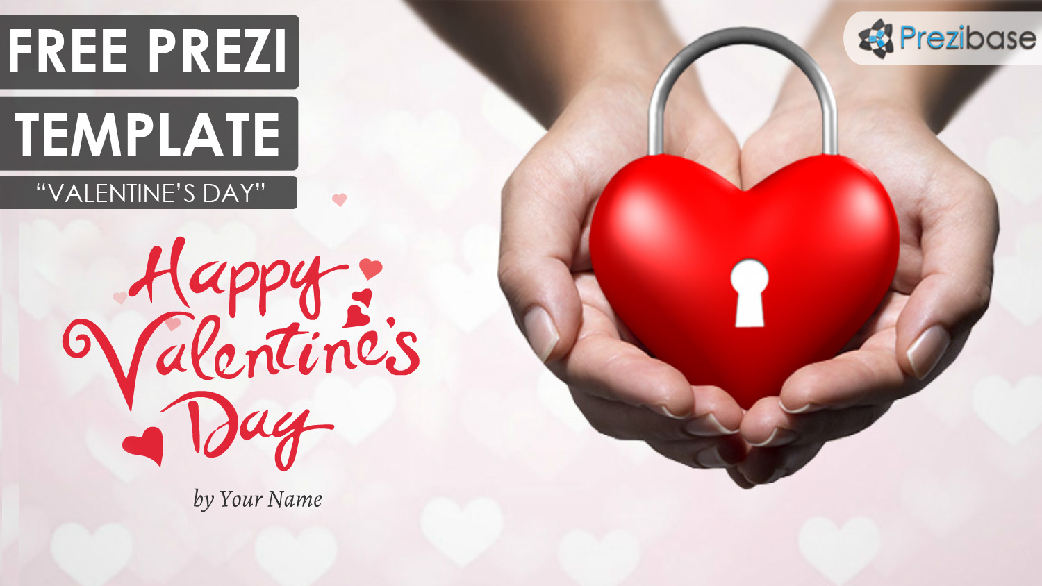 free Valentines day 3d animated prezi template presentation ecard