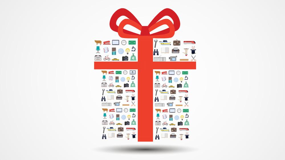 Gift Box Prezi Template Prezibase