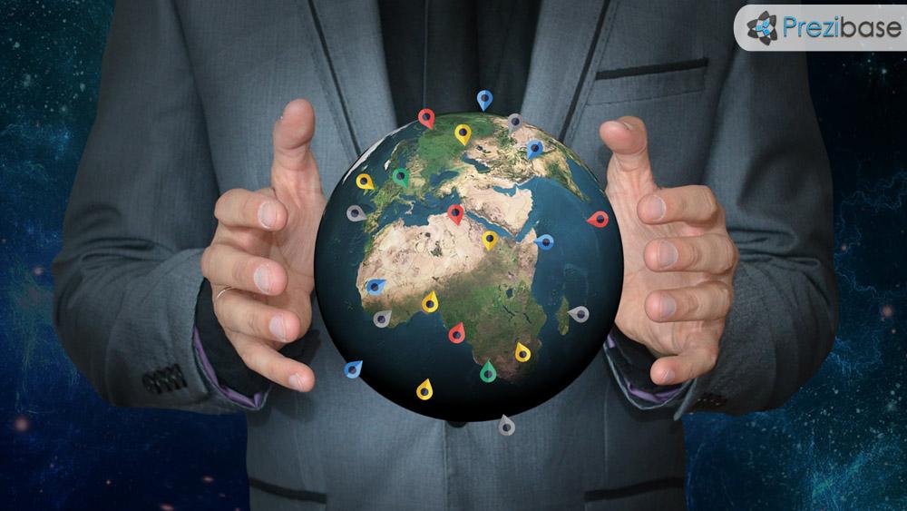 control the world globe politics prezi template