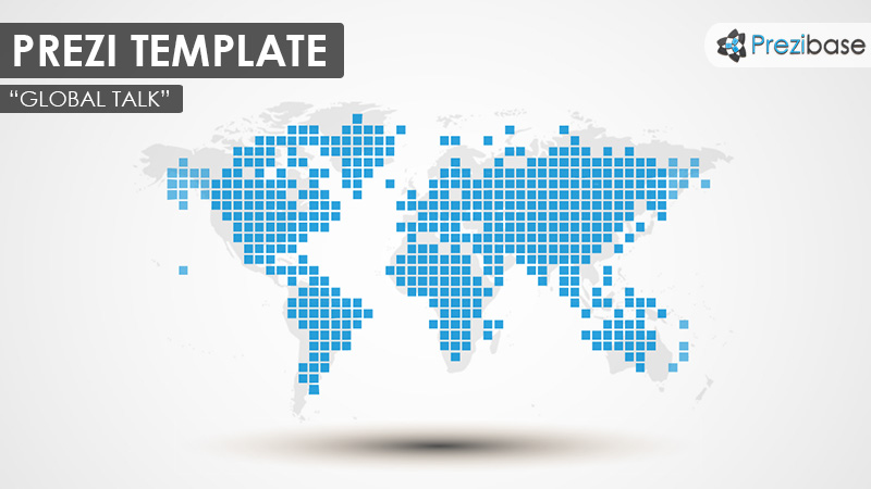 global talk world map globe blue prezi template
