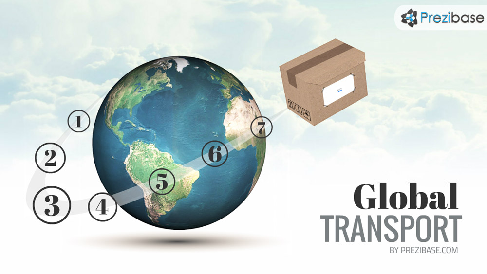 Transport around the world prezi presentation template