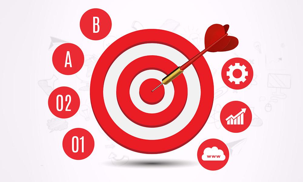 Goals and targets on bullseye Prezi Next template