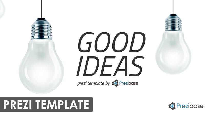 good ideas creative light prezi template 3d background