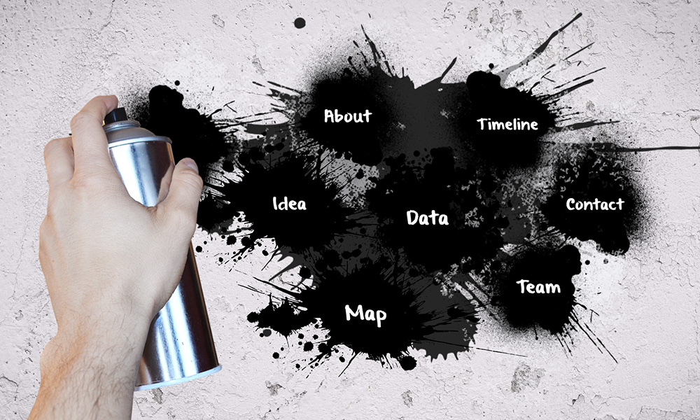 graffiti on wall prezi next presentation template