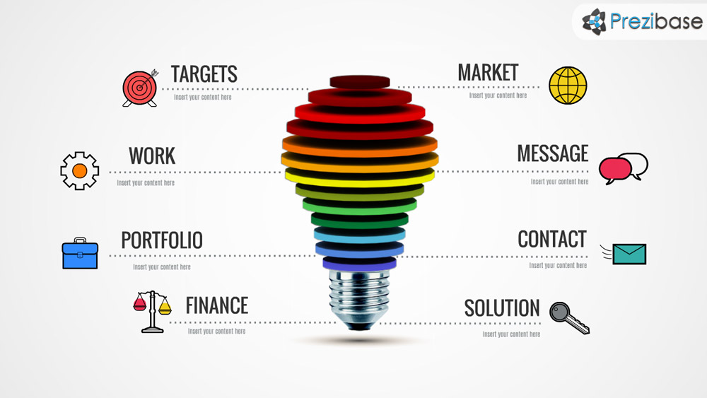 Great Ideas Prezi Template | Prezibase