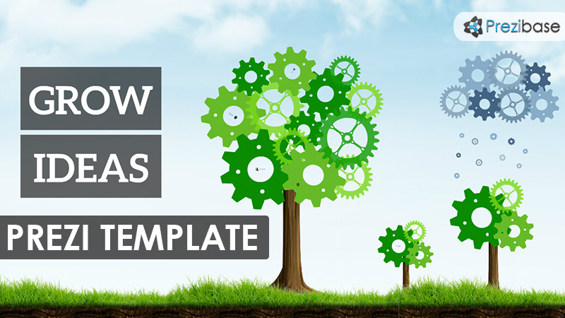 animated tree gears cogs prezi template