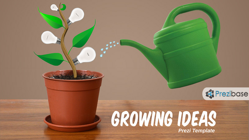 growing ideas light bulb creative prezi template