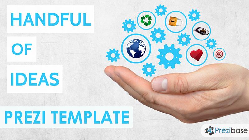 handful of ideas prezi template