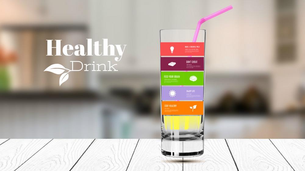 healhty drink juice smoothie prezi template for presentation diagram
