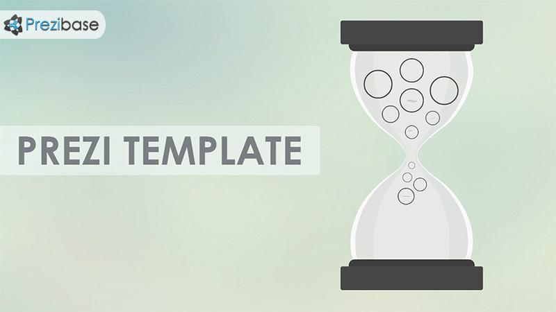 hourglass sand clock prezi template