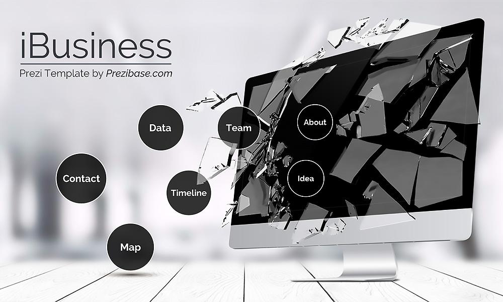 ibusiness 3D technology business prezi next presentation template